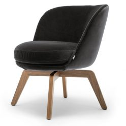 Rolf Benz 562 Fauteuil Velours Stof